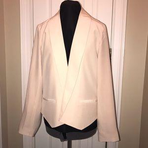 Cynthia Rowley pink silk blazer shawl collar XL